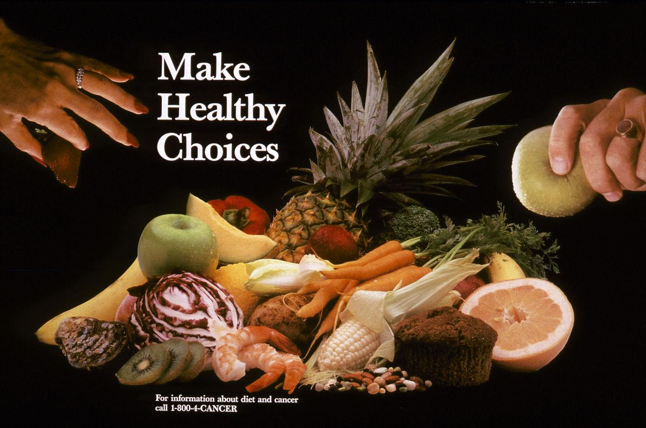 미국 국립암연구소(NCI)에서 만든 Make Healthy Choices 포스터