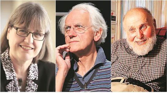 왼쪽부터 도나 스트릭랜드, 제라르 모로우, 아서 애슈킨