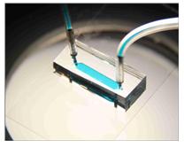 실험에 사용된 혈소판 칩 사진