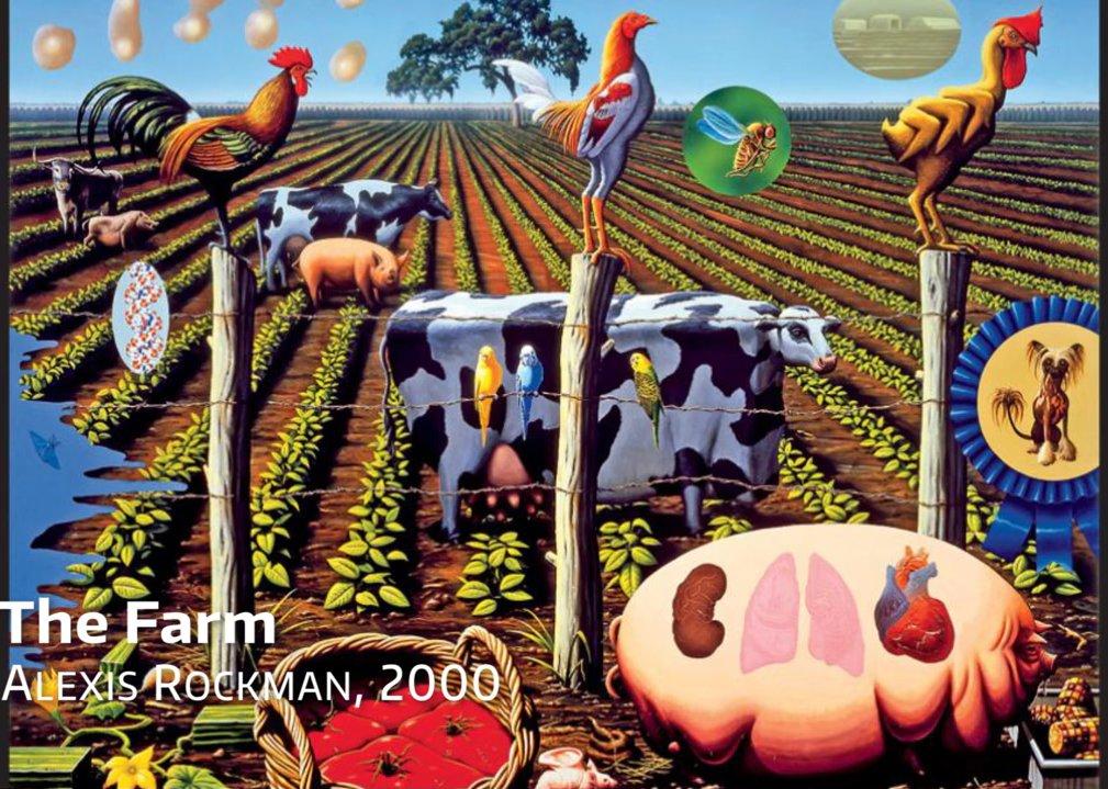 우리의 농장이 언젠가 이와 같은 모습이 되지 않을까, 라는 경고를 하고 있는 예술 작품이다