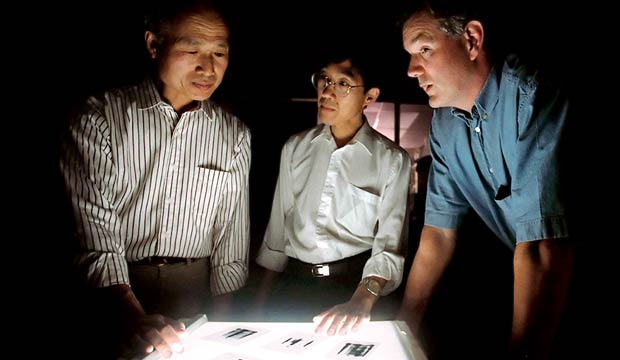 The 1989 discovery of the hepatitis C virus by George Kuo, Qui-Lim Choo and Michael Houghton (from left) was a triumph of new techniques and good old human perseverance