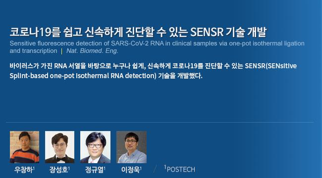 코로나19를 쉽고 신속하게 진단할 수 있는 SENSR 기술 개발
