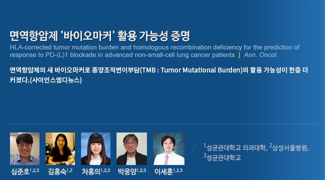 면역항암제 '바이오마커' 활용 가능성 증명