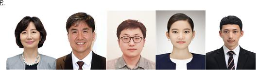 왼쪽부터 교신저자 묵인희 교수, 교신저자 조광현 교수, 제1저자 박종찬 연구원, 제1저자 장소영 연구원, 제1저자 이동준 연구원