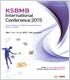 2015 생화학분자생물학회 국제학술대회