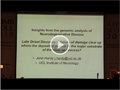 [IUBMB]Osamu Hayaishi Lecture - Genomic analysis of late onset neurodegenerative diseases